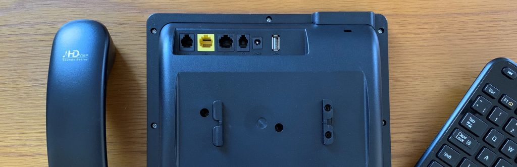 The rear of the C448HD showing the connectivity ports available.