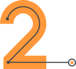 A image showing the number two for Direct Routing step two.