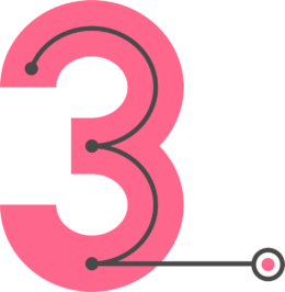 A image showing the number three for Direct Routing step three.
