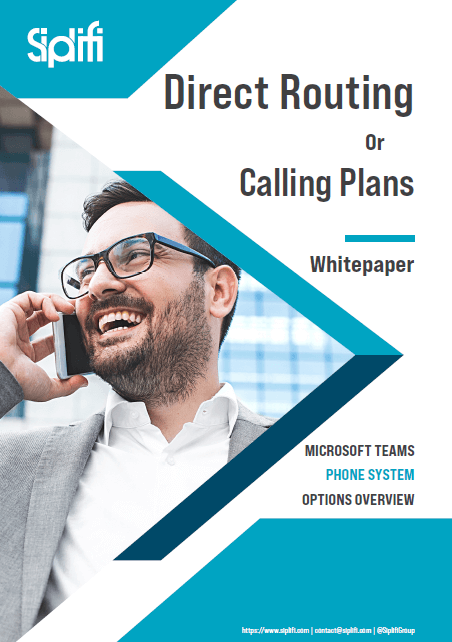 Calling Plans or Direct Routing